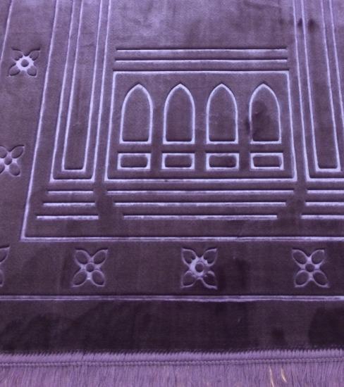 Mihrab Tapis de pri/ère ottoman en taffetas Dimensions : 110 x 65 cm Tapis de pri/ère musulman Gris